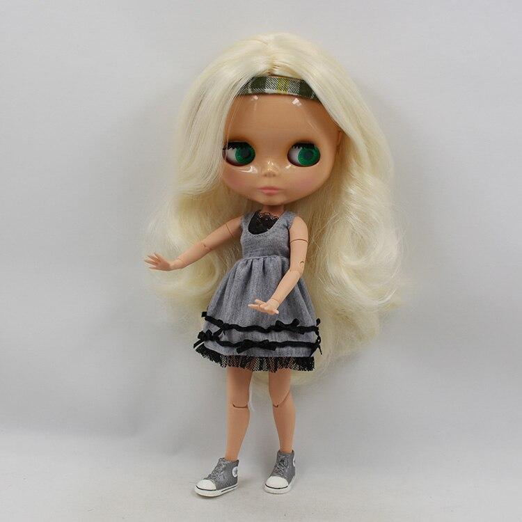 Beaukiss 12 mode Blyth poupée articulaire jaune clair cheveux longs bricolage nude blyh bjd 1/6 poupée fille jouets