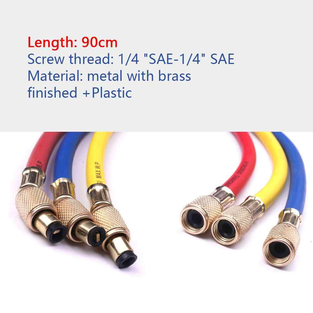 Pack of 3 ThreeH Refrigerant Charging Hoses 60 Car Air Conditioning Refrigeration Tube 1//4 and 5//16 SAE Hose Working Pressure 800PSI for R410A R12 R22