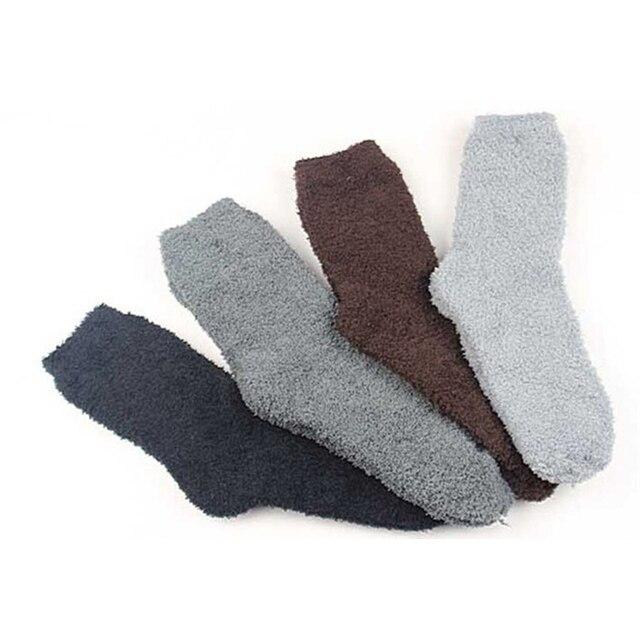 bb2da79d46d89 Hiver Chaud Hommes Épais Corail Polaire Chaussettes Thermique Chaussettes  Doux 12 paires/lot taille 42