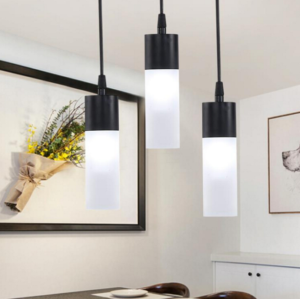 Modern Simple Personality Restaurant Fashion Creative Dining Room Cafe Artistic LED Chandelier Free Shipping free shipping modern dining table designs discount lamp shades