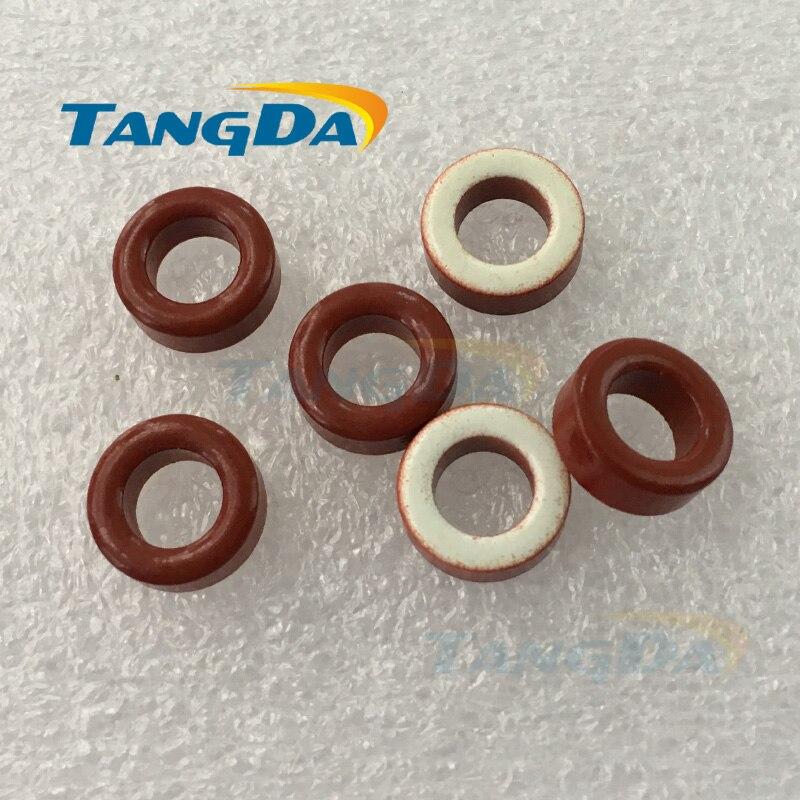Tangda T50 Iron powder cores T50-15 OD*ID*HT 13*7.5*5 mm 13.5nH/N2 25ue Iron dust core Ferrite Toroid Core toroidal red white A.