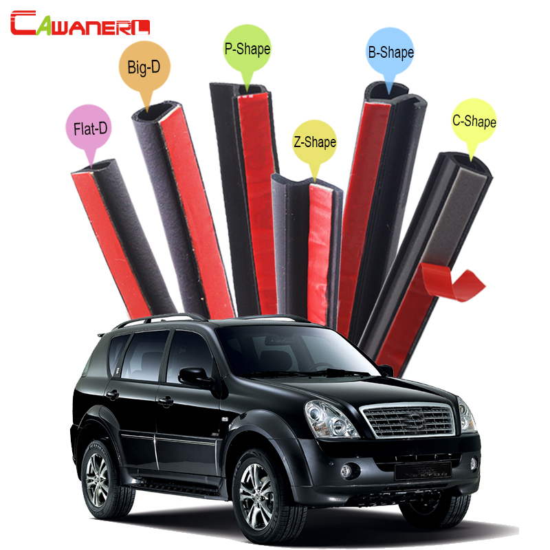 Cawanerl For Ssang Yong Rexton Rodius Kyron Car Accessories Seal Sealing Strip Kit Weatherstrip Seal Edge Trim Noise Control cawanerl for peugeot 407 408 508 607 301 car accessories seal edge trim weatherstrip rubber sealing strip kit noise control