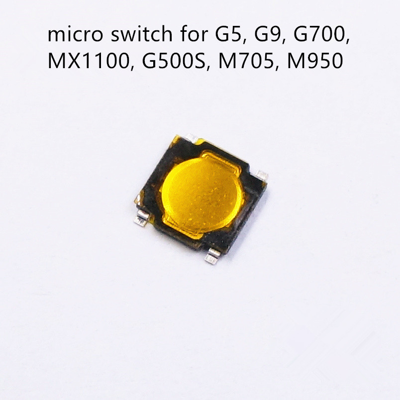 1pc Original Middle Key SMD Micro Switch For Logitech G700 G500 M950 M705 MX1100 G5 G9 Middle Button 4.8 * 4.8 * 0.8mm