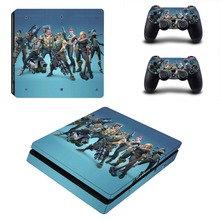 New PS4 Slim Skin Sticker For Sony PlayStation 4 Console and 2 Controller PS4 Slim Skins Stickers Decal Vinyl