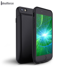 US/RU/FR/ES/AU/UK/DE External Power bank Pack backup battery Charger Case For iphone 6 7 8 Plus Silicone Soft TPU Cases cover