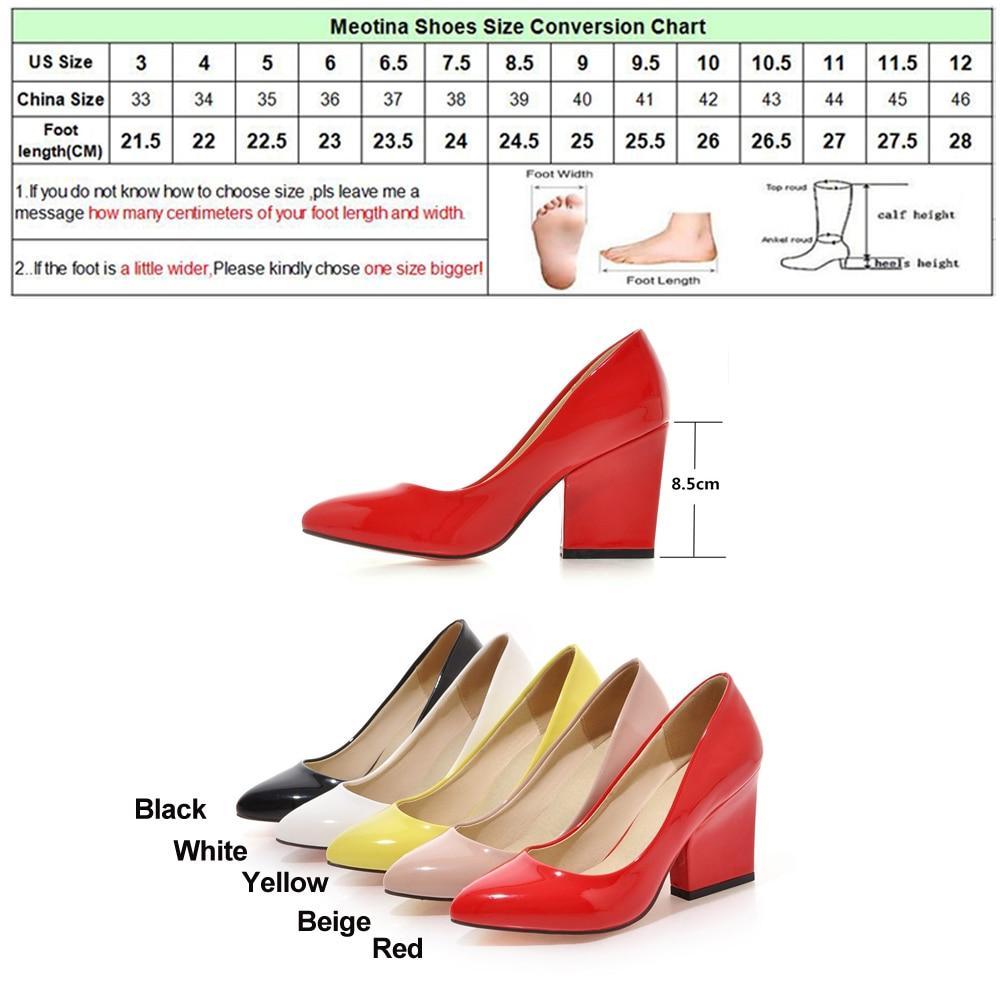 Meotina High Heels Schuhe Frauen Weiß Hochzeit Schuhe Dicke High - Damenschuhe - Foto 6
