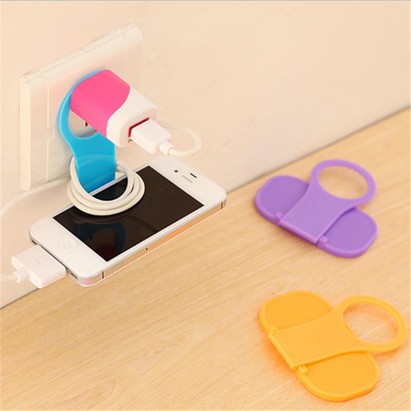 UVR Wall Phone Bracket Mobile Phone Charging Holder For iphone All Smartphone Wall Mount Phone Hanging Stand Charge Holder Shelf