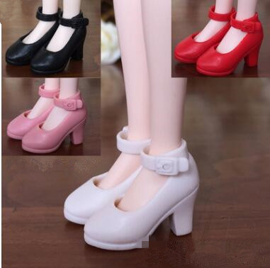 New 4Pairs High Heel Shoes For Blythe Dolls 1/6 BJD Doll Accessories 1/6 Fashion Doll Shoes For Licca Mini Shoes For Momoko Pakistan