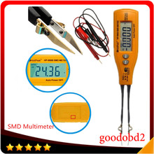 HP-990B SMD мультиметр диода Емкость Сопротивление Пинцет метр Авто Диапазон метр резистор конденсатор непрерывности тестер аккумулятора