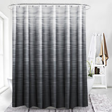 72 X 78 Inch Mouldproof Polyester Fabric Shower Curtain Liner Gray White Striped Waterproof Bath