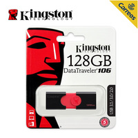 Kingston USB Flash Drives 128 GB USB 3.0 Pen Drive High speed PenDrives DataTraveler 106 Flash Disk Pendrive for Laptop PC