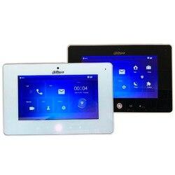 Ahua Multi-Язык VTH5221D/DW 7-дюймовый сенсорный крытый монитор, встроенный Wi-Fi и камеры, IP звонок, видео-домофон, проводной дверной звонок