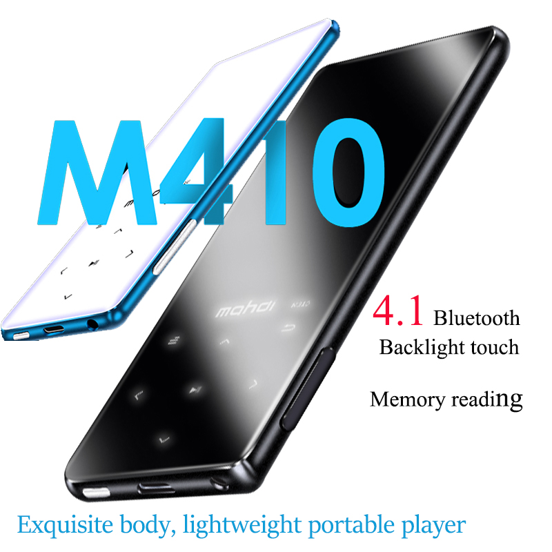 Boutons tactiles portables lecteur MP3 avec Bluetooth 4.2 avec écran 1.8 pouces lecteur Audio numérique sans perte 8 GB avec Radio FM