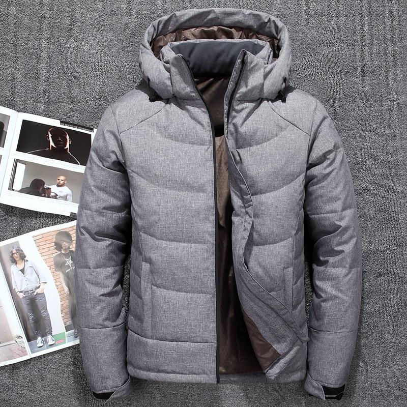 New winter men jackets Tace & Shark brand men's   down   jacket fashion casual windbreakers white duck   down     coat   men parka homme