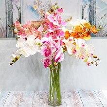2 вилки 3d печать бабочка Орхидея зеленый пластик идиллический страна поддельные цветы стол украшение интерьера искусственный цветок