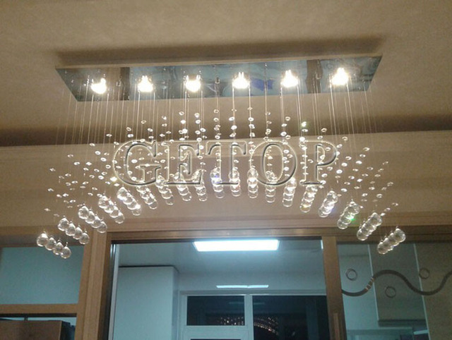 Z Modern GU10 LED Light Arch Crystal Chandelier Lighting For High Rise  Stairway Fashion Creative