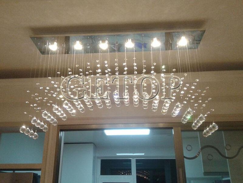 z moderne gu10 lumiere led arc lustre en cristal eclairage pour escalier de grande hauteur mode creative lampes de luxe eclairage a la maison