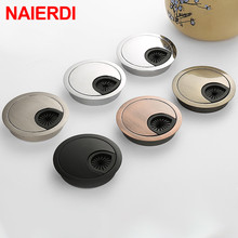 NAIERDI Zinc Alloy Desk Wire Hole Cover Base Computer Grommet Table Cable Outlet Port Surface Line Box Furniture Hardware(China)