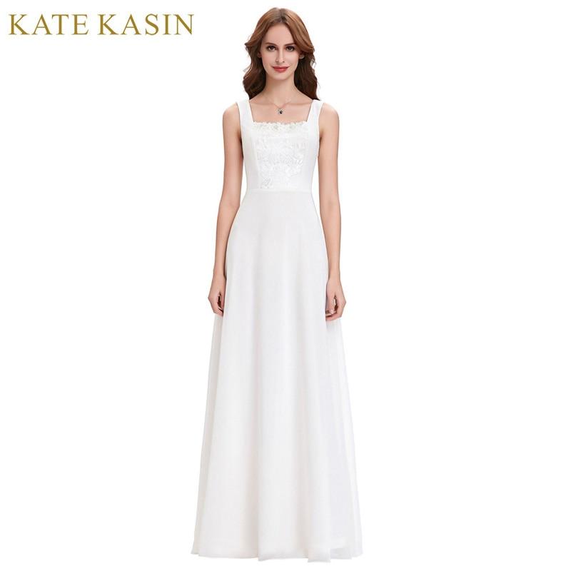 Korean style a line chiffon bridal wedding dress 2017 for Dresses for church wedding