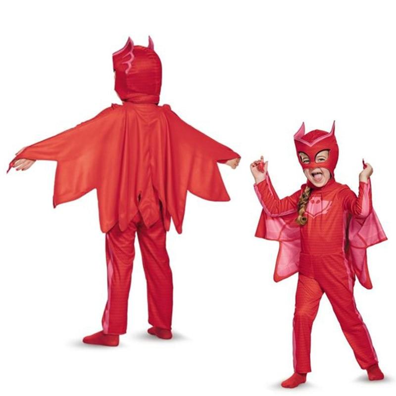 PJ косплей День Рождения Косплей Костюм Дети Вторая Кожа Плотно Костюм Спандекс дети Catboy Owlette Гекко Мыса хеллоуин костюм