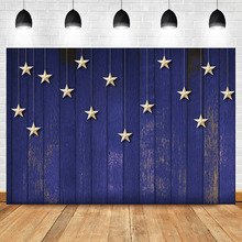 Mehofoto Twinkle Little Star Photography Backdrops Studio Shoots Blue Wood Pinewood Ninght Party Background