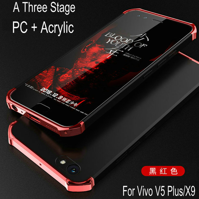 reputable site 2e377 abfa6 US $6.99 |New Fashion Hybrid Rubber Armor Case For BBK Vivo V5 Plus/X9  5.5inch Hard PC + Acrylic Shockproof Phone Cover Cases For V5Plus-in Fitted  ...