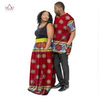 New Fashion African Couple Clothing Summer Dashiki Women Skirt Men Shirt For Lovers Casual Loose Traditional Clothing ATQ46
