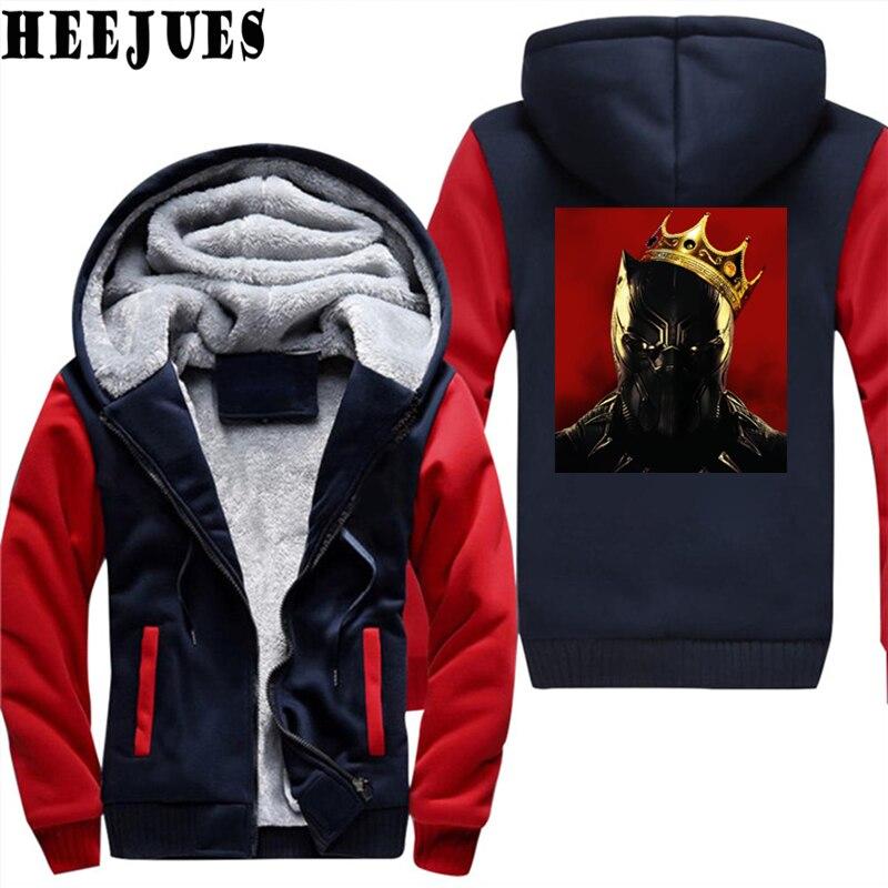 gris Vêtements Noir Hoodies Sweat Panthère rouge Épais Velours Hiver Noir Survêtement À T'challa Notoire Veste Capuche La Hommes xBfwFaA