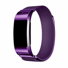 CRESTED Milanese Loop For Fitbit Charge 2 Band Stainless Steel Smartwatch Strap replacement wrist band Magnetic
