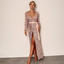 ada7557e80347 Buy pink sequins dress and get free shipping on AliExpress.com
