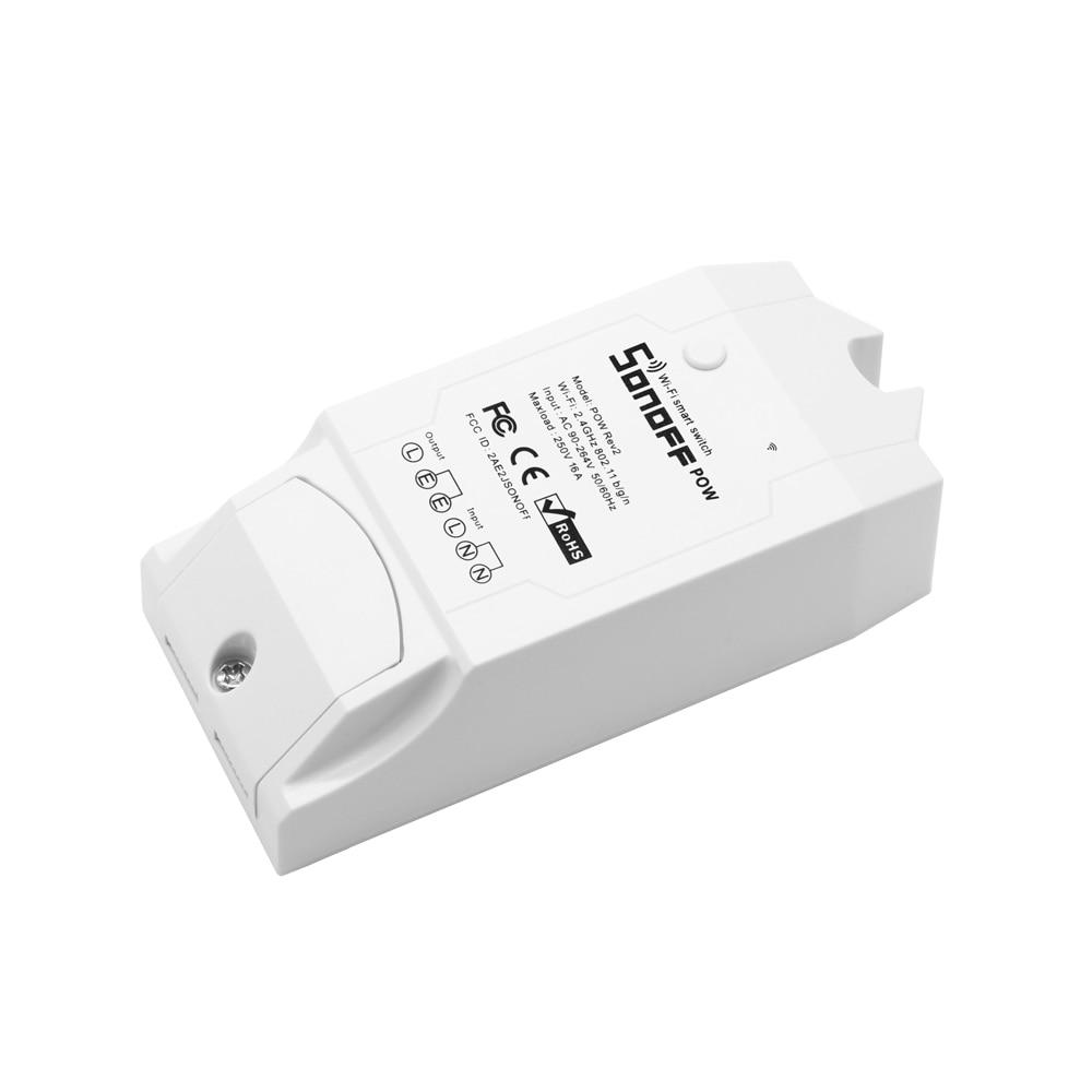 Image 3 - SONOFF Pow R2 WiFi Switch With Power Consumption Measurement WiFi Power Switch 15A Smart Wifi Switch Controller Works with Alexaswitch 16aswitch controlswitch switch -