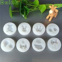 Mini Crown Conch Bear Bunny Fondant Silicone Mold Cake Decorating Tools Epoxy Resin Molds for Jewelry