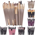 Professional 15Pcs Makup Brushes Set Tools Make-up Toiletry Kit Brand Make Up Brush Set Pincel Maleta De Maquiagem GUB#