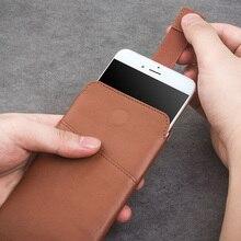 "QIALINO Leder brieftasche Fall für iphone 11 Pro Max new Pouch für iphone 6 plus 7/8 plus 5,5 ""Leder mit Card Slot luxus Fall"