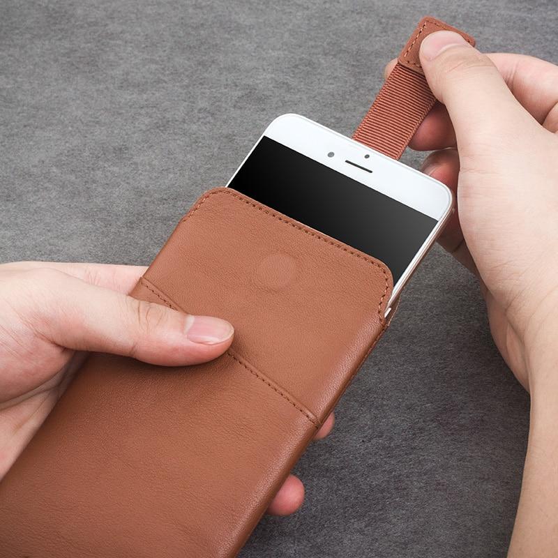 """bilder für QIALINO Lederne mappen-kasten für iphone 6 6 s 4,7 new Pouch für iphone 6 plus 6 s plus 5,5 """"leder mit Kartensteckplatz Luxus-fall"""