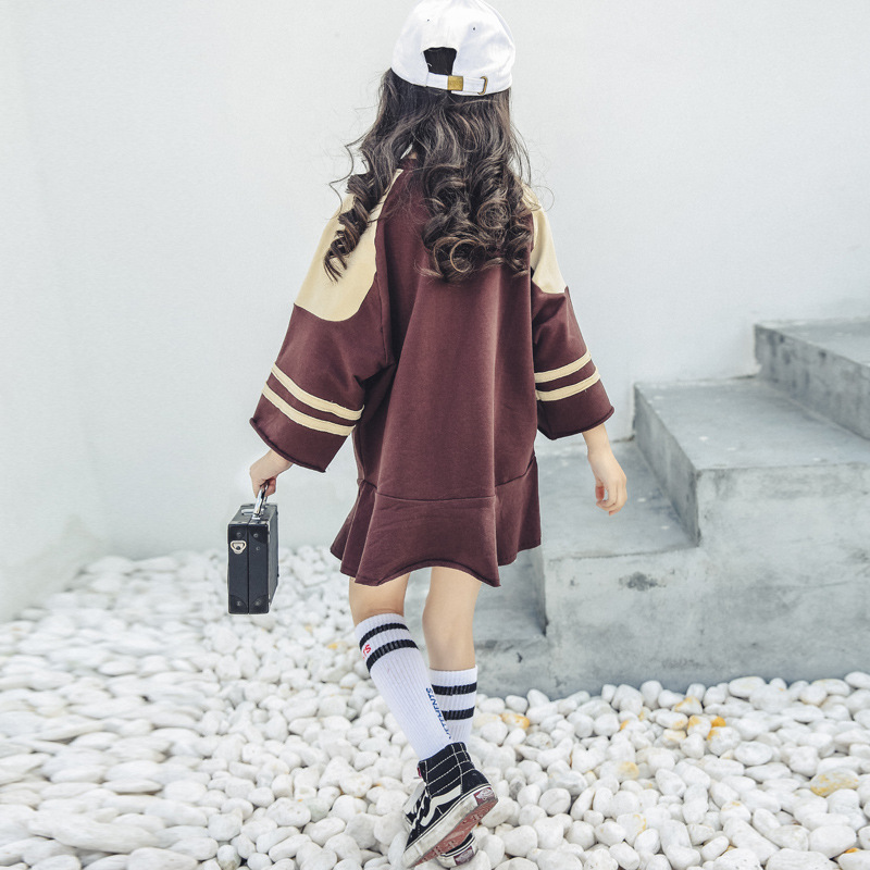Toddler Girl Dress Spring 2018 Long Sleeve O-neck Shirt Dress Kids Clothes For Girls 4 5 6 7 8 9 10 11 12 13 Years Birthday 2018 spring plus size m 4xl pencil dress fashion new o neck long sleeve high quality embroidery knee length pencil dress c1207