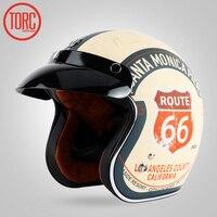 TORC Brand Vintage Helmet Motorcycle Motorbike Helm Motocross Helmet Capacete Casco Open Face Jet Retro Scooter