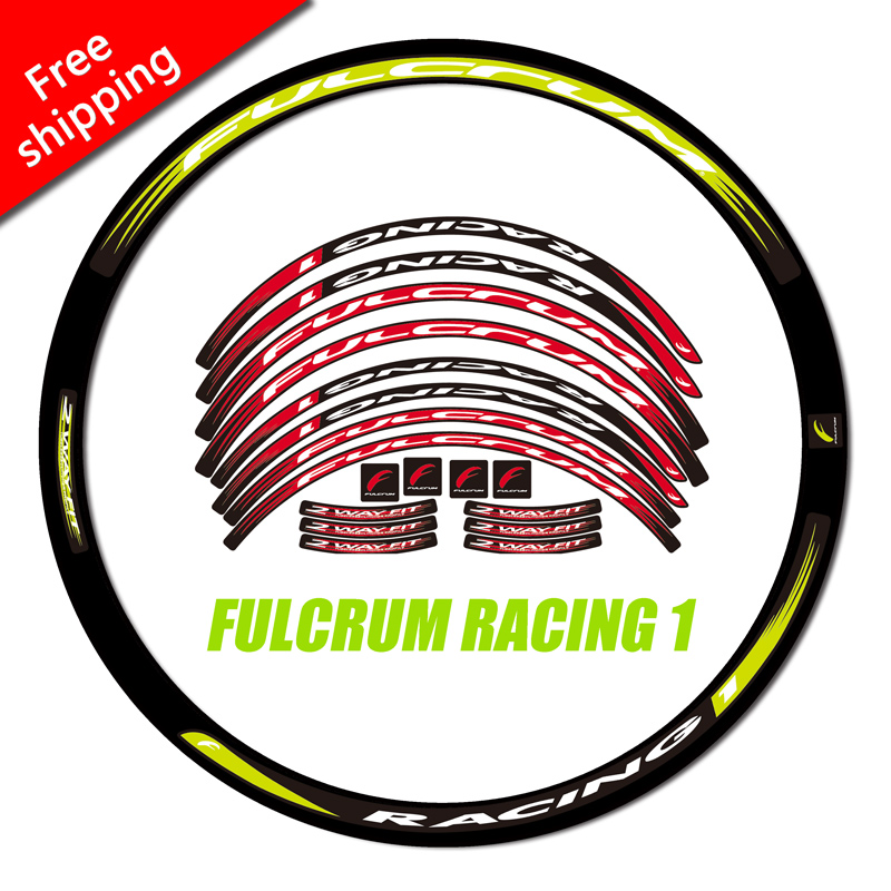 FULCRUM RACING 1 Wheel set Stickers for Road Bike bicycle two wheels Rims 30mm fulcrum R1 race cycling decals
