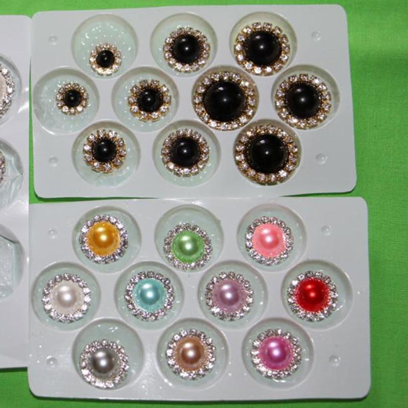 HTB1Y3SZJFzqK1RjSZFvq6AB7VXac ZMASEY 10pcs/Lot 15mm Pearl Wedding Diamond buttons Factor Outlets Rhinestones buttons DIY Hair Accessory Decorative button