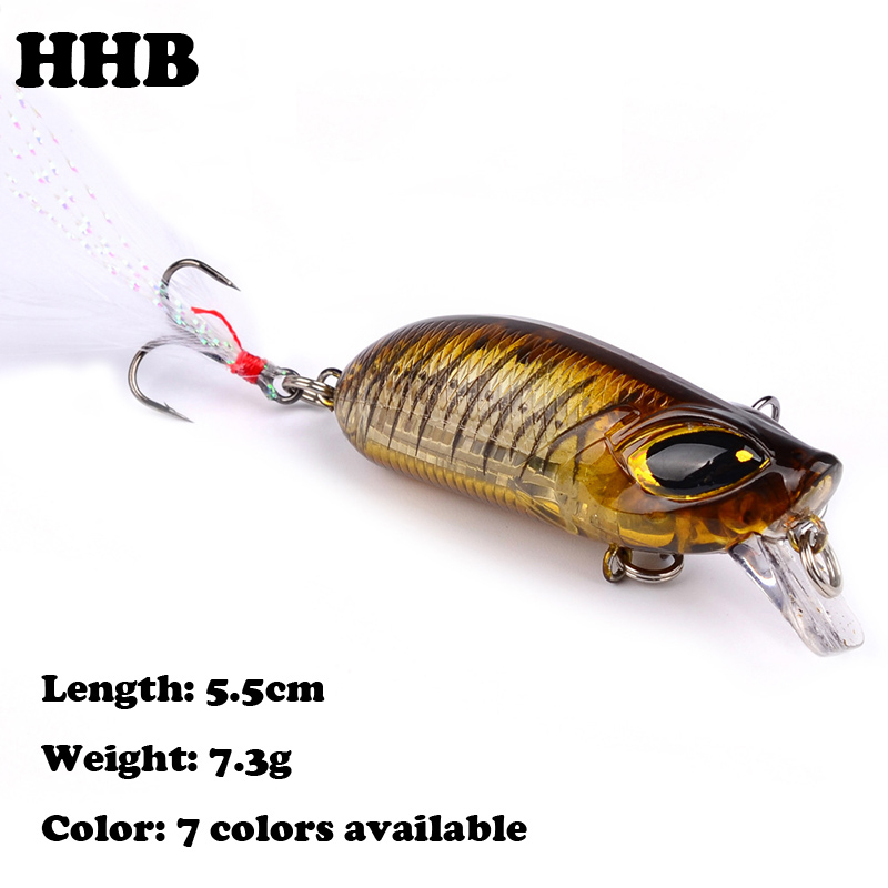 1PCS/Lot 5.5cm/8.3g Minnow Fishing Lures Plastic hard Bait With feather Crankbait Artificial Wobblers Fishing Tackle X-76 wldslure 1pc 54g minnow sea fishing crankbait bass hard bait tuna lures wobbler trolling lure treble hook