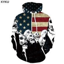 3d Hoodies Skull Hoodie Men American Flag Printed War Print Retro Hoody Anime Graffiti Hooded Casual Long Sleeve