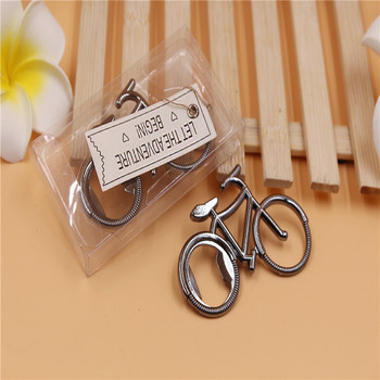"100pcs wedding favor gift and giveaways-- ""Let The Adventure Begin"" Bicycle Bottle Opener party favor souvenir wa3515"