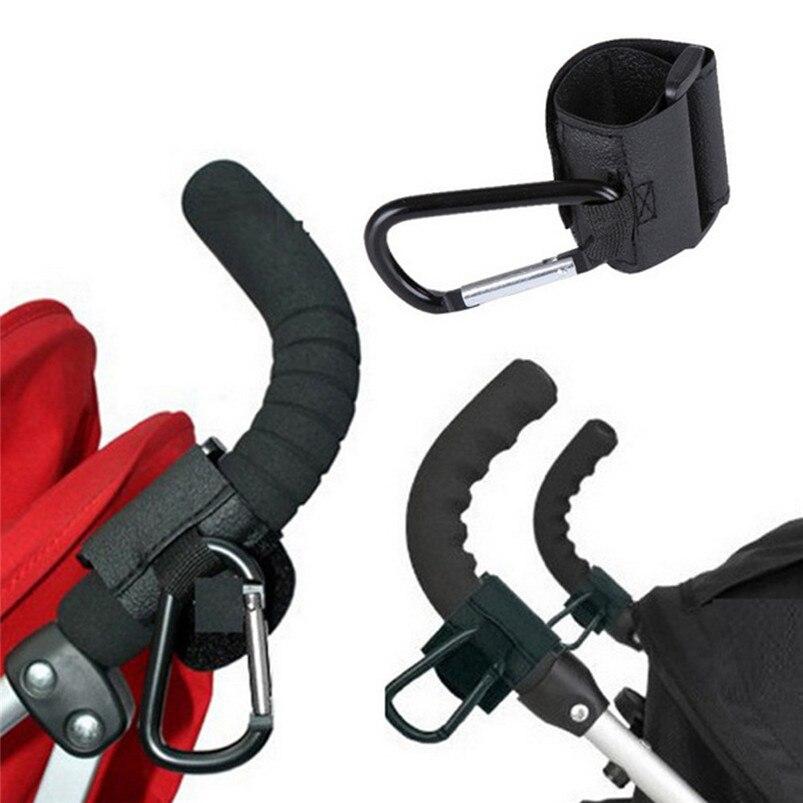 Baby Stroller Hooks Kids Pushchair Pram Hanger Carabiner Shopping Bag Clip Rotatable Hook Baby Buggy Hanging Carrier Holder 10O9