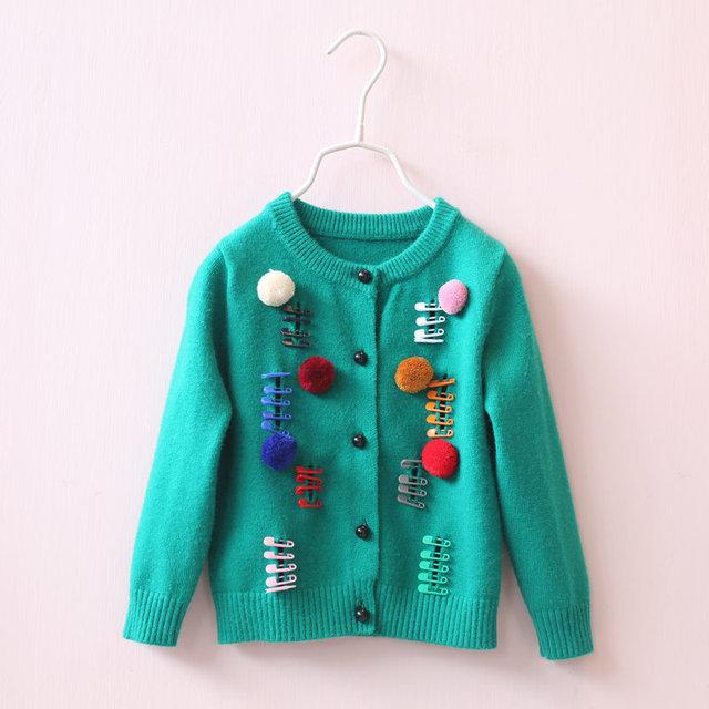 Cardigan niños niñas bebé suéter niñas suéteres jersey de punto infantil kids cardigan para niñas europea tire enfant garcon 11