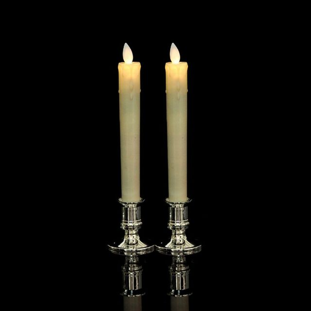 2pcs Plastic Candle Base Holder Pillar Candlestick Stand For Electronic Candles Christmas Party Home Decor 4