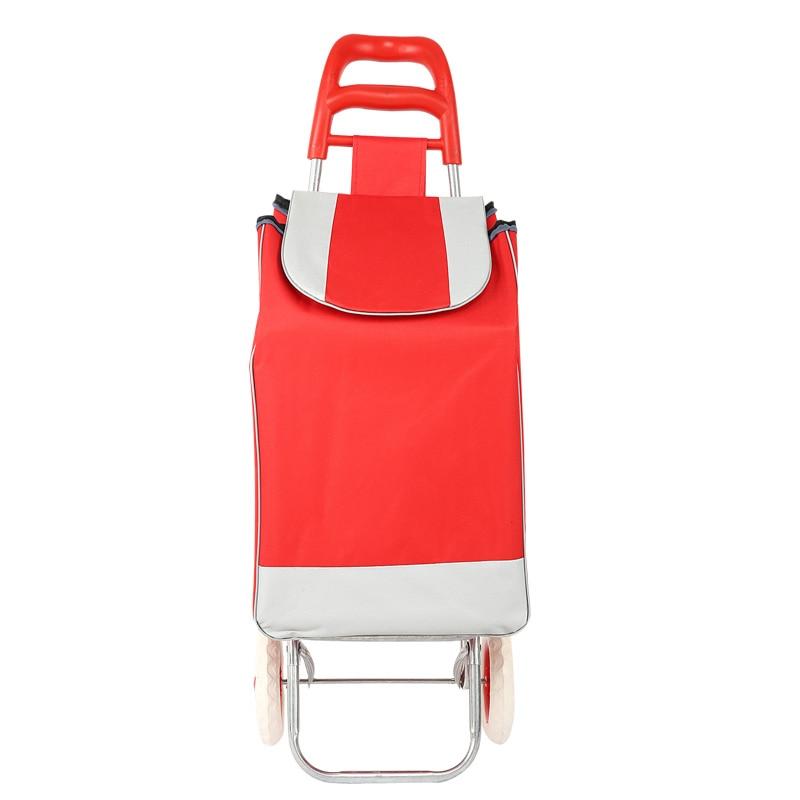 Портативная Складная багажная тележка для покупки сумка на колесиках для пожилых людей хозяйственная Тележка для покупок тележка для скалолазания портативная - Название цвета: red