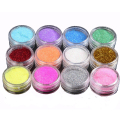 12pcs/lot Glitter Tattoo Body Glitter Powder Shimmer Glitter Tattoos Powder Colors Acrylic Glitter Dust Decoration Nail Art Tips