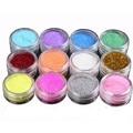 12pcs/lot Glitter Tattoo Body Glitter Powder Shimmer Glitter Tattoos Powder Colors Acrylic Glitter Dust Decoration Nail Art Tips