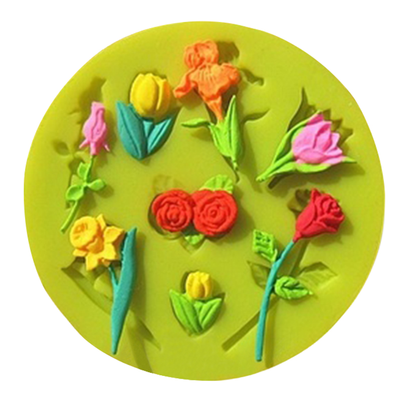 3D Food-grade Silicone Mold Rose Flower Silicone Soap Mold Fondant Decorating Cake Chocolate Candy Jello Kitchen Baking Mold