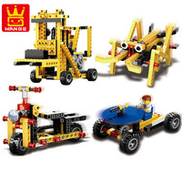 292pcs Power Machinery Technic Electronic Engineering Crane Building Blocks Brick Toy 1403
